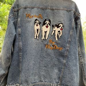 Big Dogs Vintage Run With the Dogs Jean Jacket
